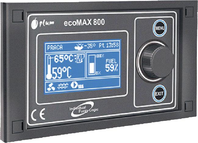 PLUM Ecomax 800R Fuzzy Logic je moderní mikroprocesorová řídící jednotka pro kotle SEKO - Bawaria-Seko